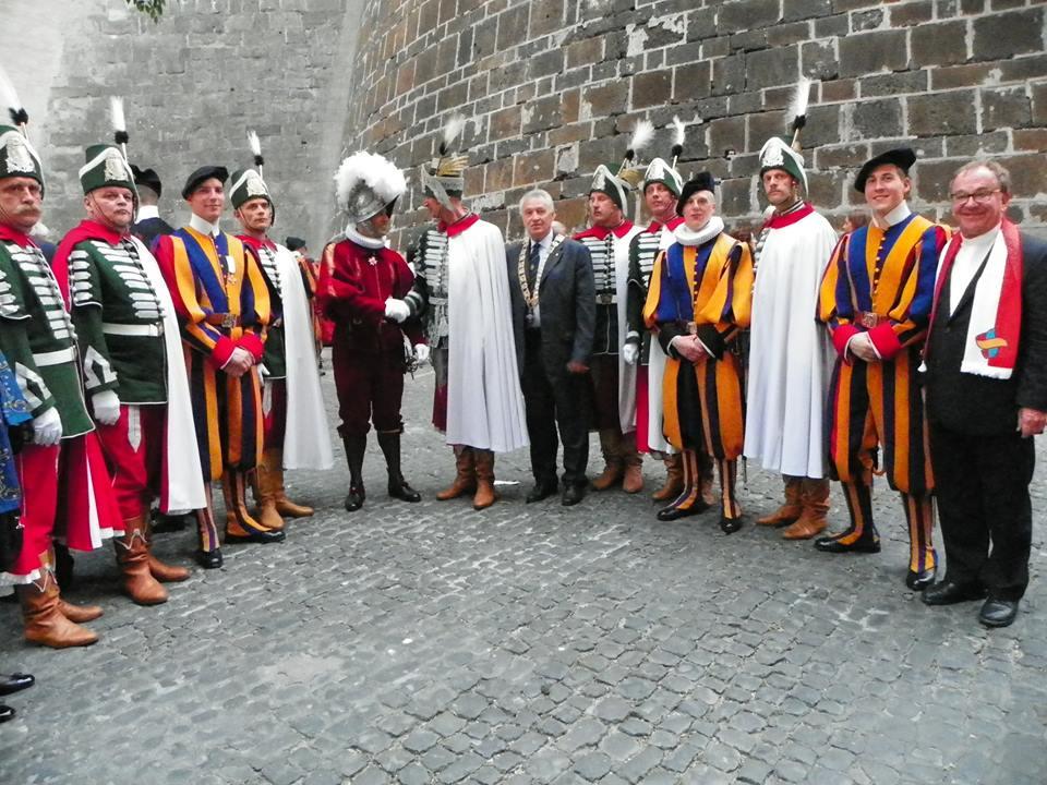 Vatikánban jártak lovagrendi társaink