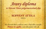 Koppány Attila rendtársunk díja