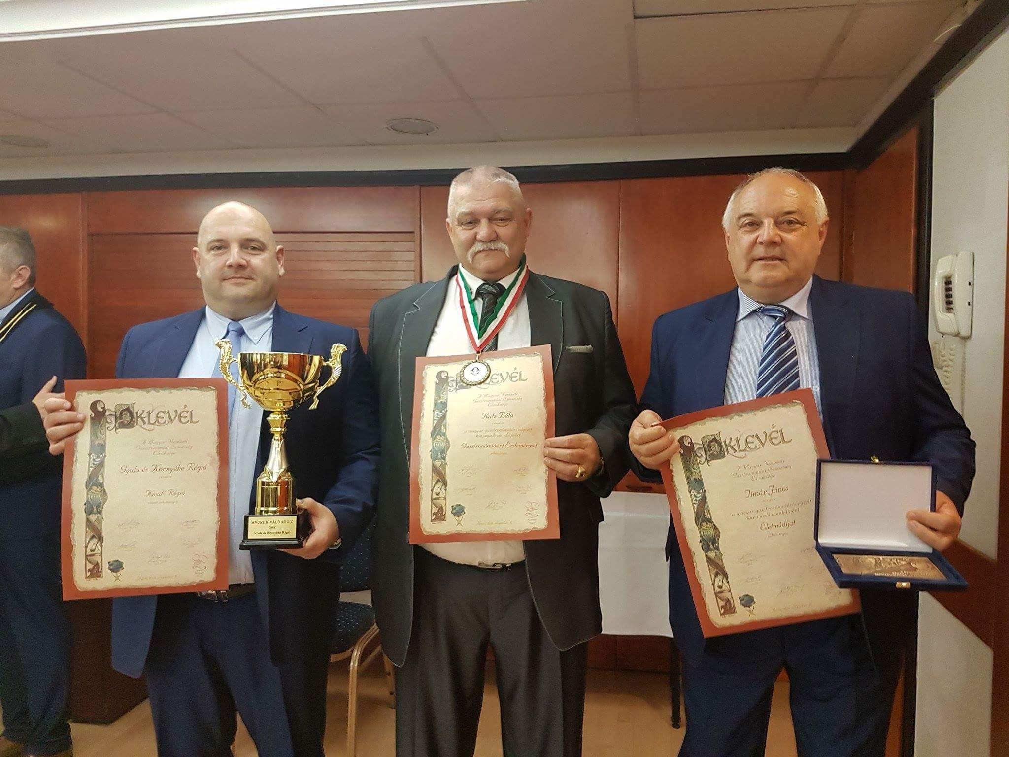 Magyar Nemzeti Gasztronómiai Szövetség díjátadó ünnepségén