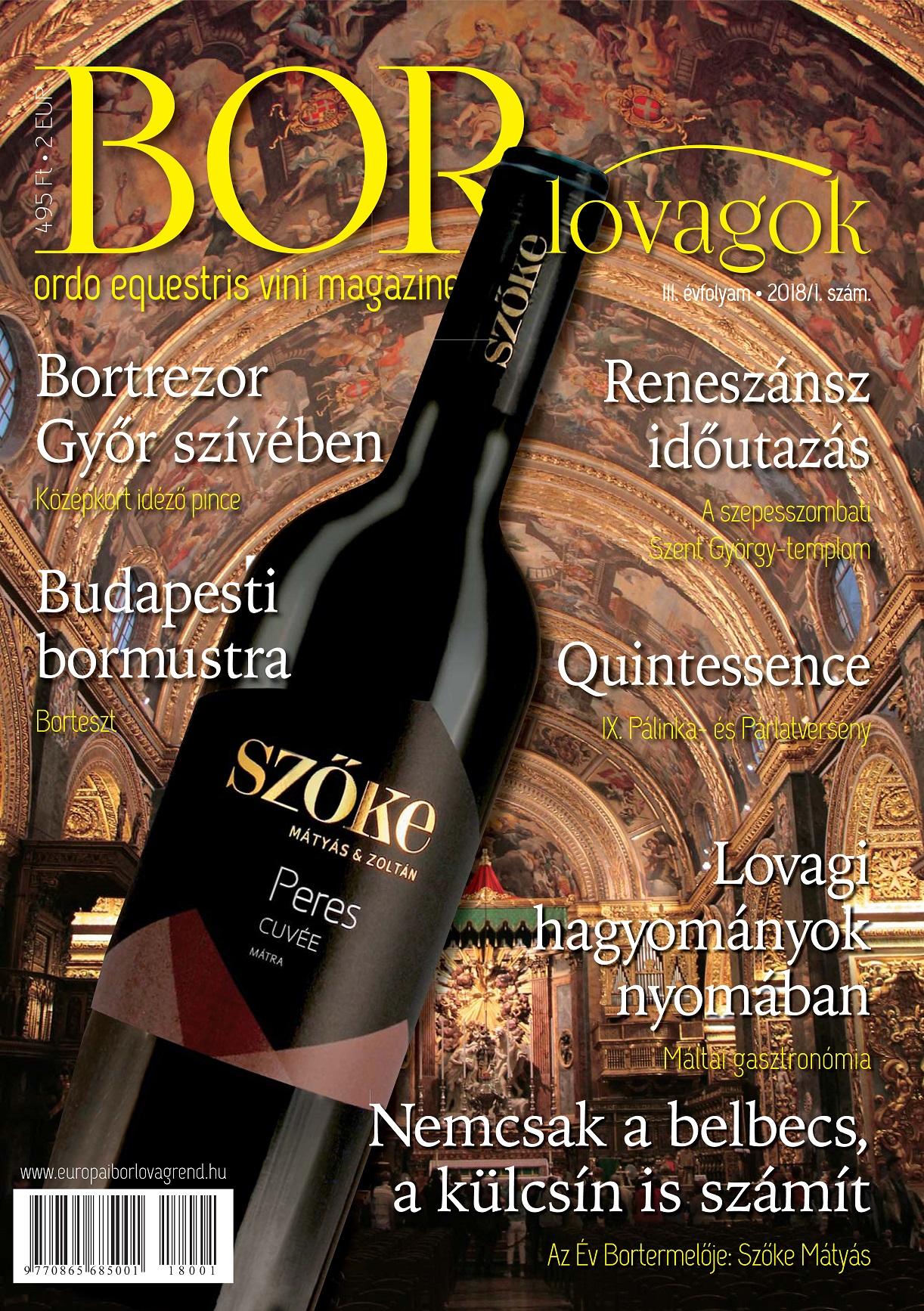 MEGJELENT A BORLOVAGOK Magazin 2018/1