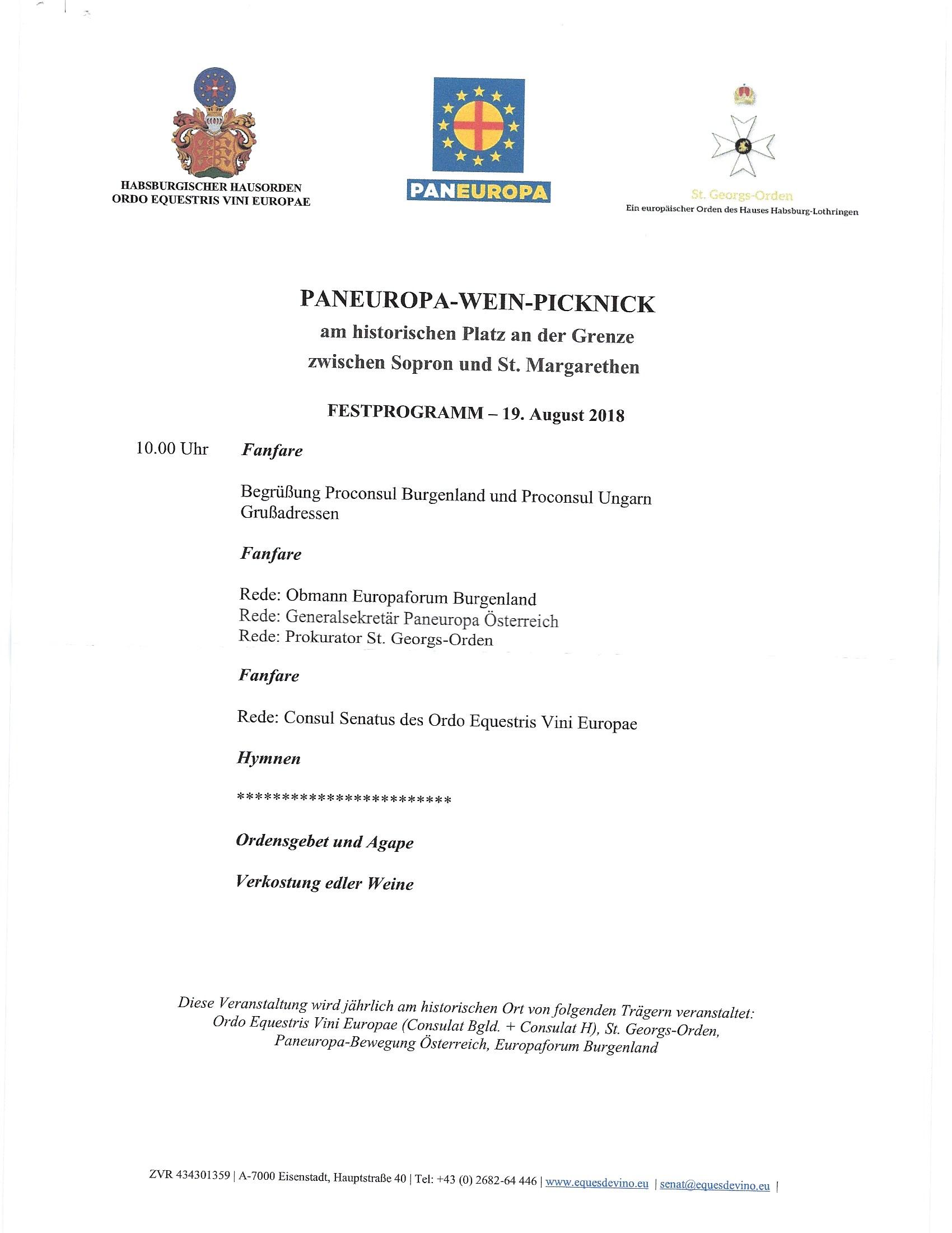 Meghívás a Páneurópai Piknik 29. évfordulóján